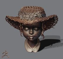 straw hat by Intervain