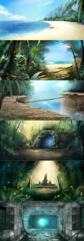 BG speedpaint set by tooaya