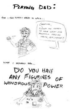 D and D Adventures: Figurines of Wondrous Power by ElAguilar