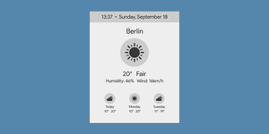 Sunny | WORKING | Rainmeter Suite v2.1 by fuckyeahlucas