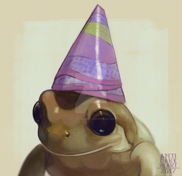 Party Frog - Commission by Anti-Dark-Heart