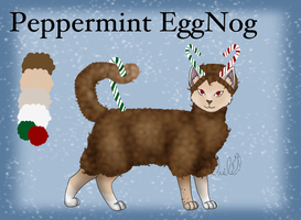 AFRO CAT ADOPT: Peppermint EggNog [CLOSED] by ChocolateQuill
