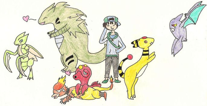 Adam's Pokemon Team by Riku-Uzumaki