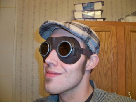 Steampunk Goggles and my ugly mug by refinedjester