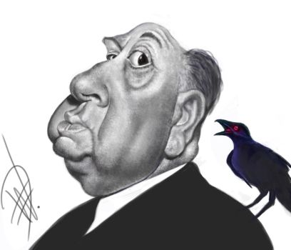 Alfred Hitchcock Caricature by du-har