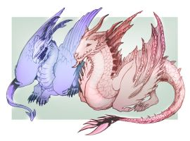 Wind and Fire Beasts by CosmicVirus