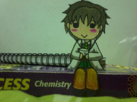 TMGS 2- Waka-sensei on my Chemistry book by 13Kitty95