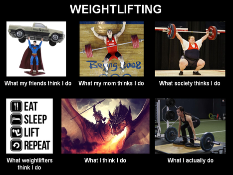 Weightlifting - What X think... by BaalSoulslayer