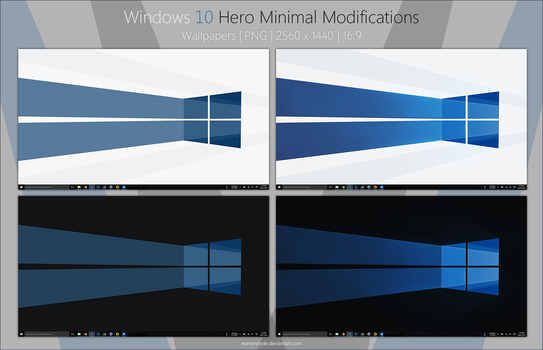 Windows 10 Hero Minimal Wallpapers by WarrenClyde