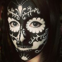 Inverted Sugar Skull makeup 01. by AllMadHera