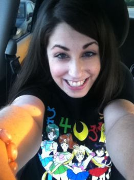 Me in my new shirt by keybladeprincess