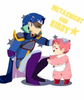 .:Meta Knight and Kirby(baby):. by hisurykirby