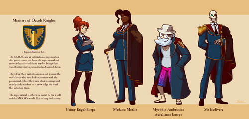 MOOKsverse Support Characters by Blazbaros