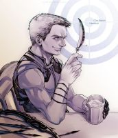 The Avengers-Hawkeye by Athew