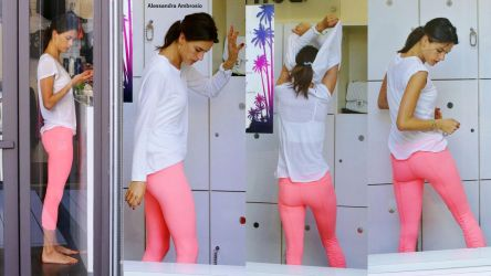 Alessandra Ambrosio Finishes Workout by gmrjr59