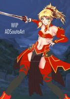 WIP Mordred Clothes ver. background by ADSouto