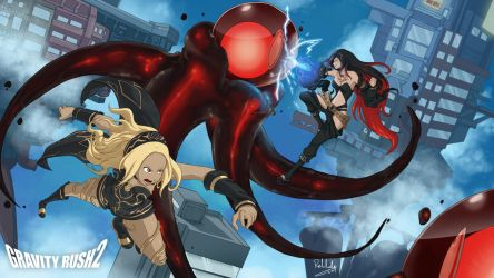 Gravity Rush  attack of the nevi! by MythosPictures