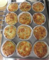 Goats cheese, spring onion and chive muffins by Sia-the-Mawile