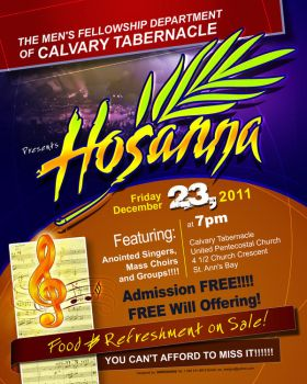 Hosanna flyer by owdesigns