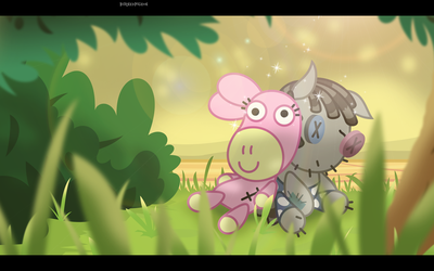 Daisy The Donkey and Smarty Pants - Day by BurnedPigeon