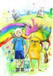 ADVENTURE TIME by lora-zombie