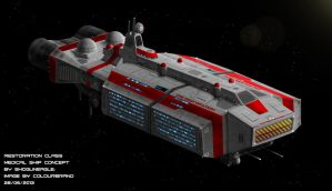 Commissioned: Restoration Class Medical Ship by Colourbrand