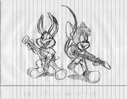 TTA: Matt and Buster playing electric guitars by GrishamAnimation1
