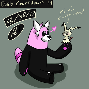 181 Countdown No.19: Bewear and Mimikyu by The-One-Aardvark