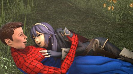Spider-Man and Lucina : your with me by kongzillarex619