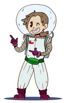 Astronaut toon by Lutih
