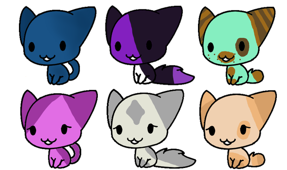 Ice Cream Cat adoption's by KrystalCatGaming