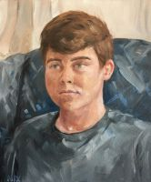 Brother Portrait Oil on Canvas by NicolePerez