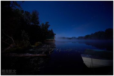 Moonlight over Magnetawan by superkev