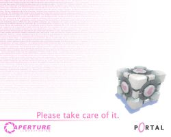 Your Faithful Companion Cube by Squirrel-2006