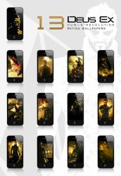Deus Ex : HR - Retina wallpapers for the iPhone by manuphilip