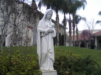 Madonna Statue at OLPH by mouselady