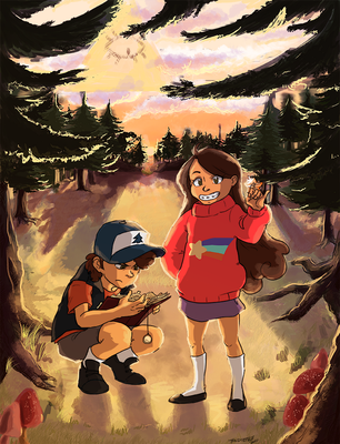 Pines Twins by The-Diet-Elf