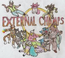 THE CHAMPIONS!!!!! by Foxstan-the-Otterfox