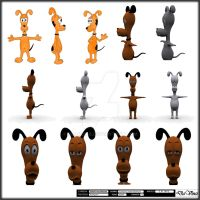 3D Dog Character by scardi48
