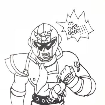 Captain Falcon is Over 9000 by OmegaRiderSangou