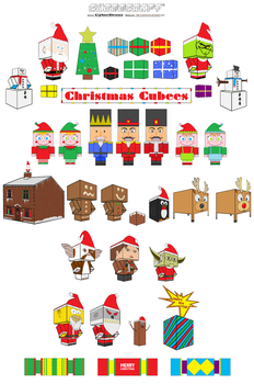 Christmas Cubees by CyberDrone