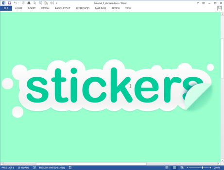 Stickers text effect in Microsoft Word by upiir