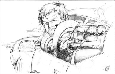 The Road Warrior - Pencil - Commission by TheEndofOurLives