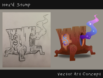Hex'd Stump Concept by Energyzed