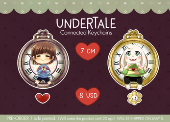 Undertale connected keychain -Pre-order- by RikkuHanari