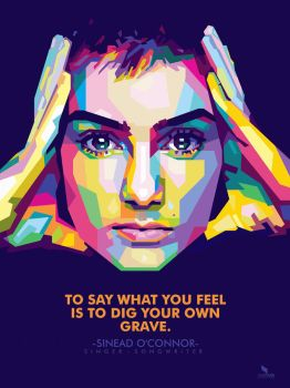 sinead o'connor - POP ART WPAP by @opparudy by opparudy