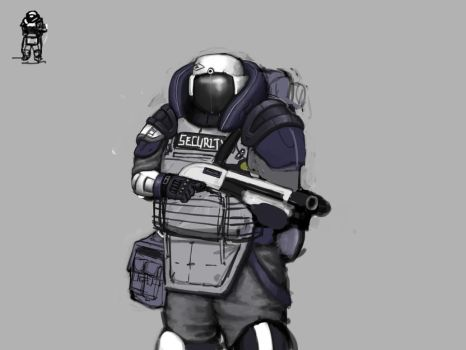 Security Officer by KidneyShake