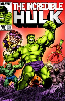 COVER RECREATIONS - Incredible Hulk 314 by BrianGraham