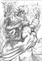 FAN PIC Wolverine and Gambit by faserspitze
