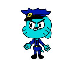 Gumball as a cop by MigsGarcia5127